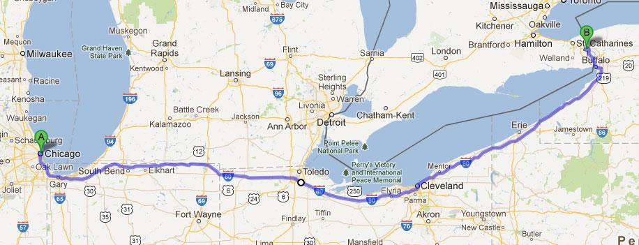 Первая часть нашего тура: Путешествие Чикаго - Ниагара Фолс.